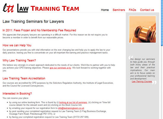 Law Training Team: New website launch