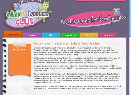 Leicester Baby Club: Website Launch