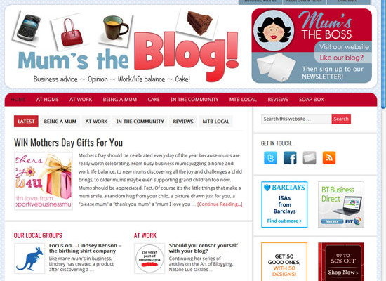 Mums the Boss: WordPress blog design
