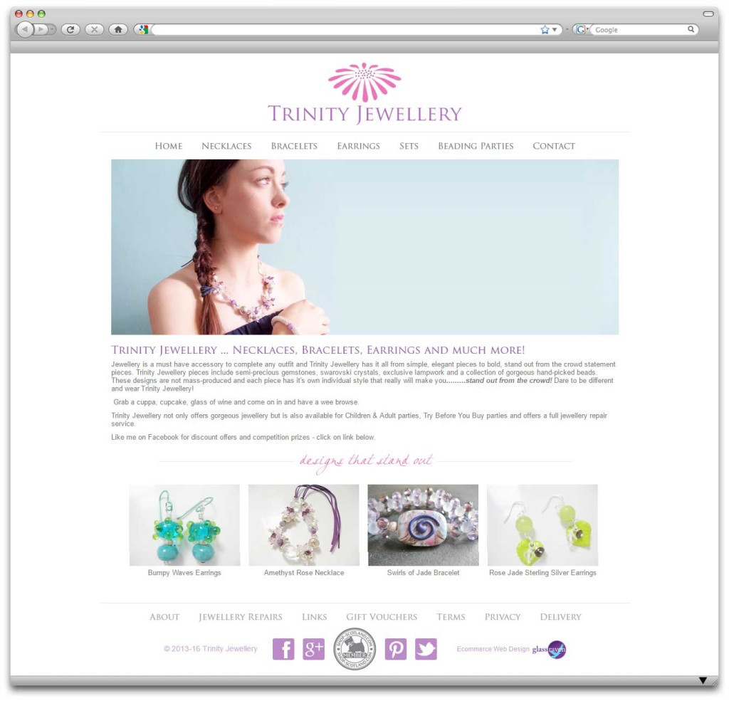 Trinity Jewellery Ecommerce Website