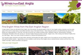 Website Design = East Anglian Vineyard Association