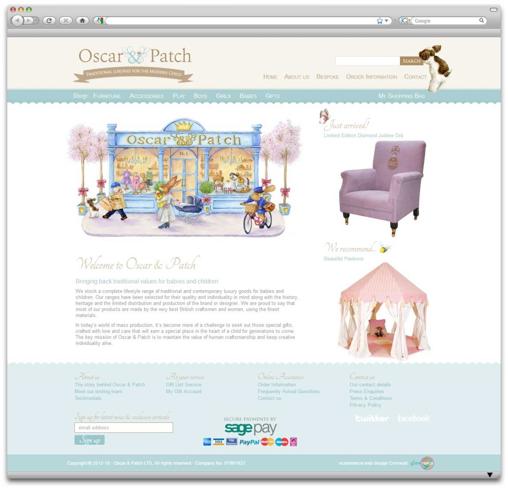 Oscar & Patch Ecommerce Website