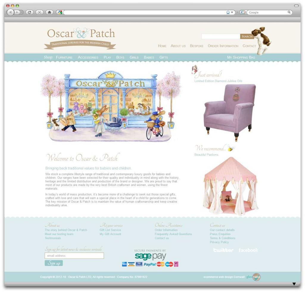 Oscar & Patch Ecommerce Website