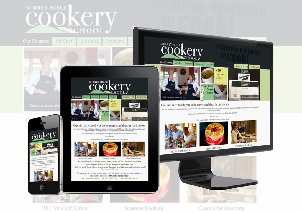Mobile Responsive Ecommerce - Surrey Hills Cookery School