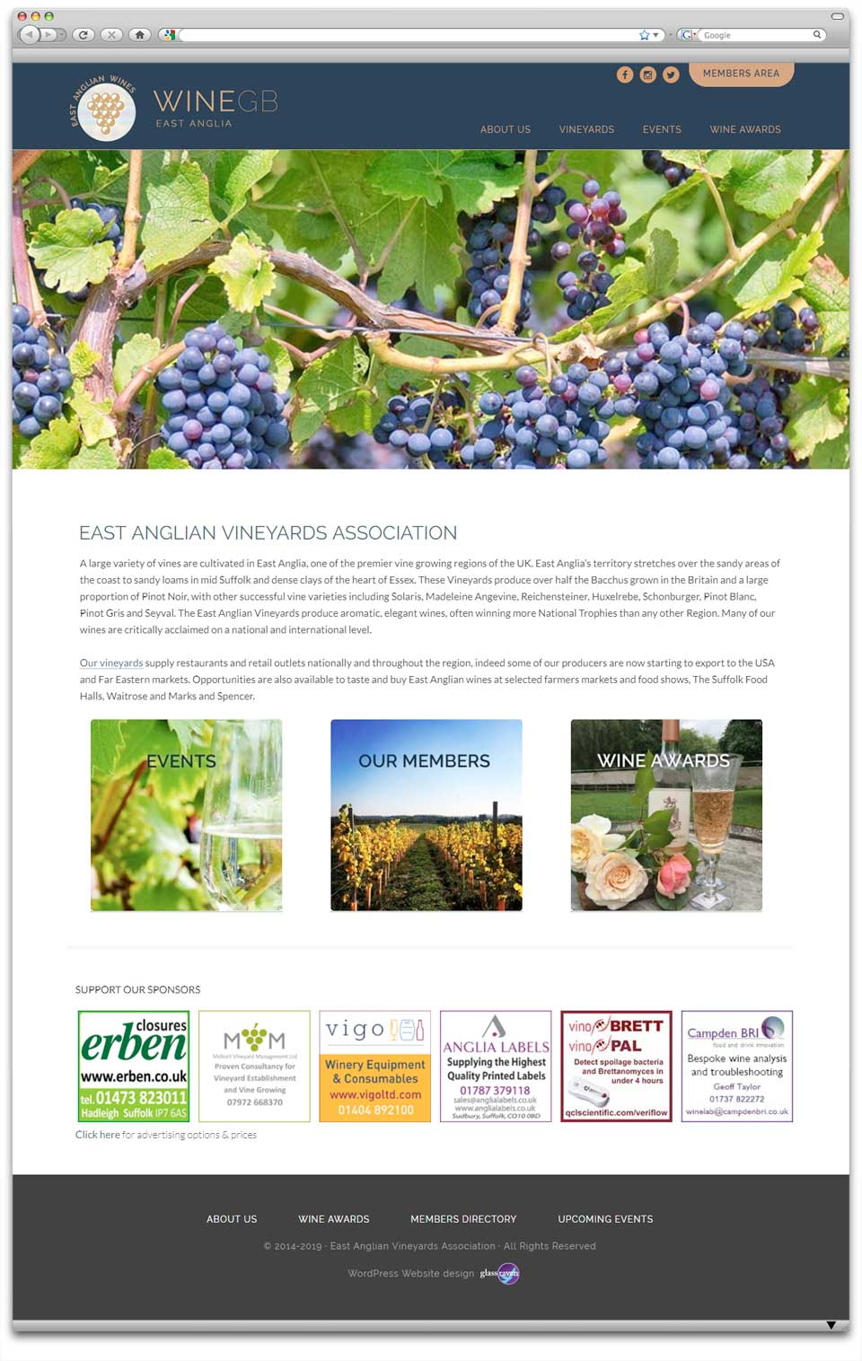 Wine GB Wordpress design