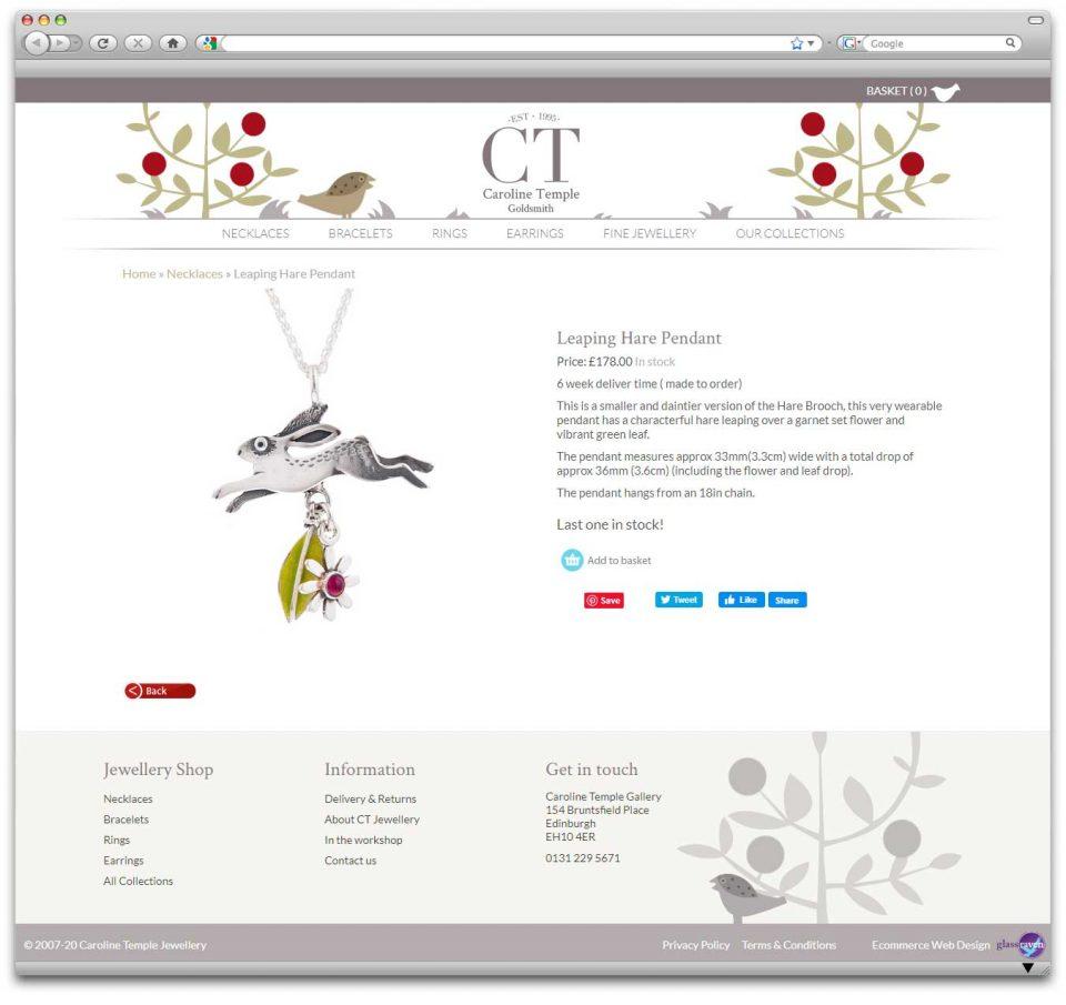 Ecommerce jewellery website