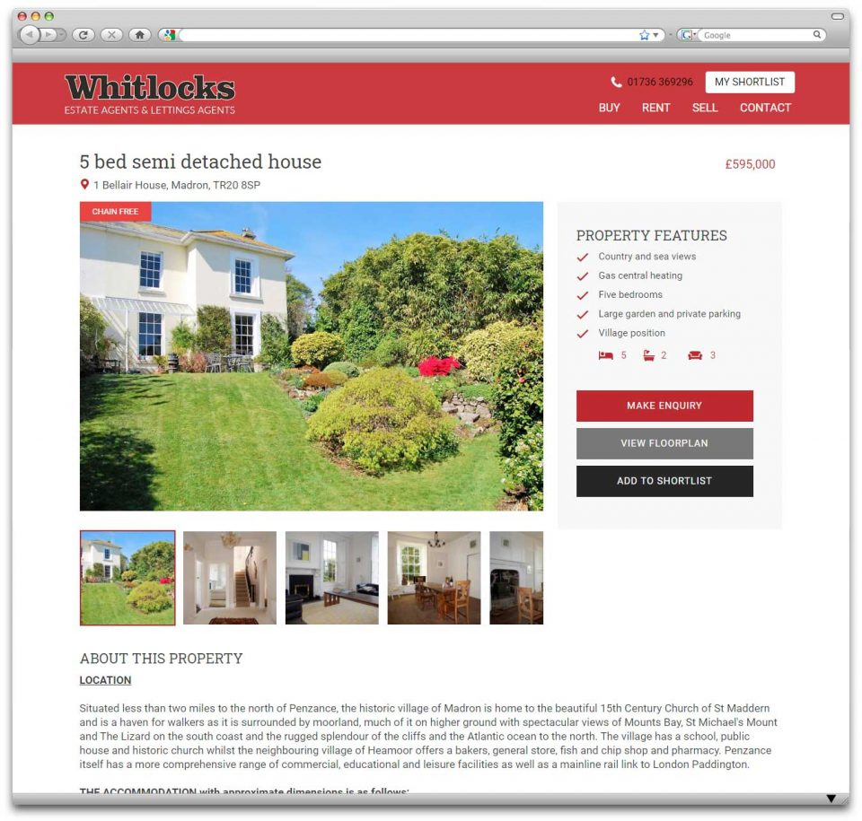 Penzance website design